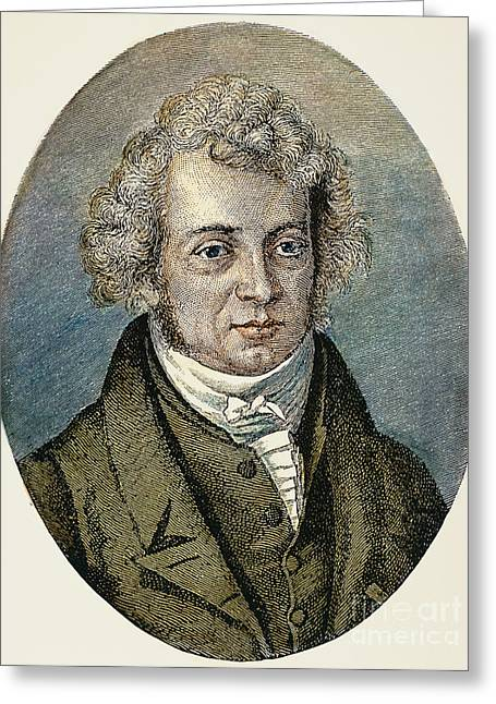 Amperes Greeting Cards - Andre-marie Ampere Greeting Card by Granger