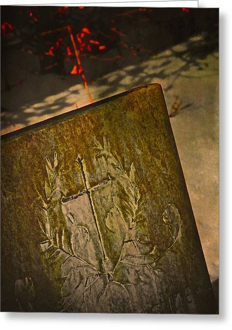Headstones Greeting Cards - Andrea Kirstine In Winter Greeting Card by Odd Jeppesen