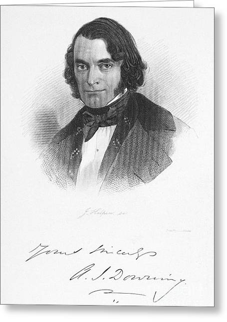 Autograph Greeting Cards - Andrew Downing (1815-1852) Greeting Card by Granger