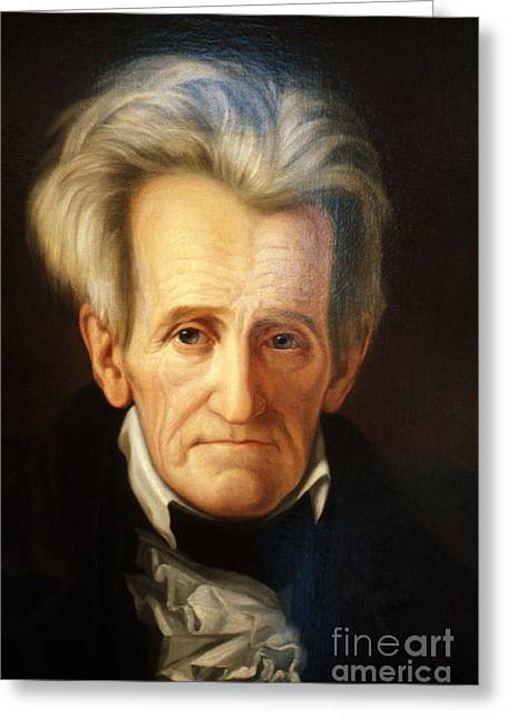 Country Lawyer Greeting Cards - Andrew Jackson, 7th American President Greeting Card by Photo Researchers