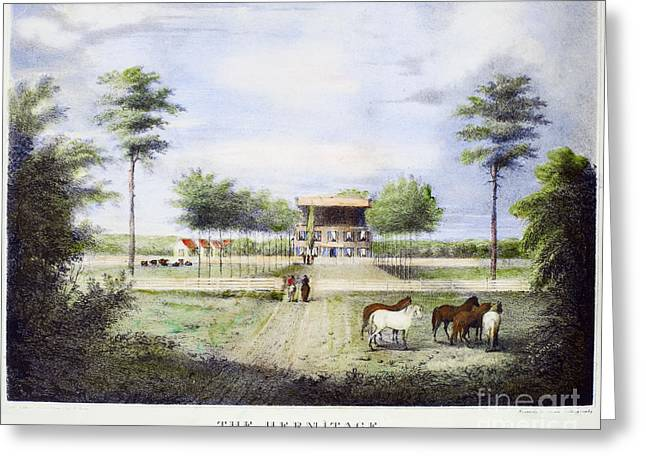 Hermitage Plantation Greeting Cards - Andrew Jackson: Hermitage Greeting Card by Granger