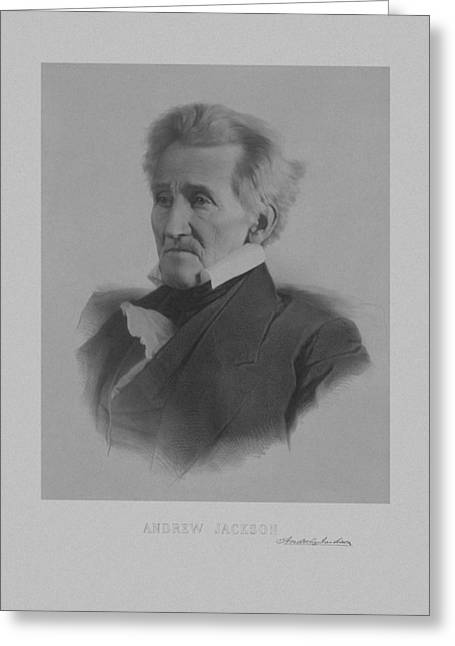 Founding Fathers Mixed Media Greeting Cards - Andrew Jackson Greeting Card by War Is Hell Store