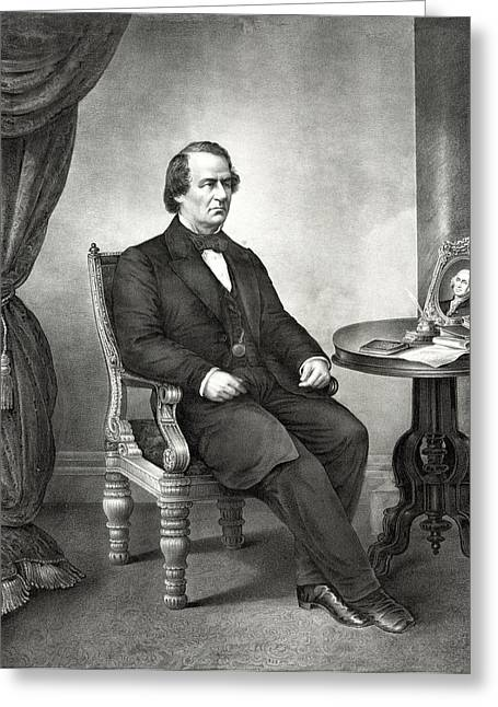 American Politician Greeting Cards - Andrew Johnson - President of the United States Greeting Card by International  Images