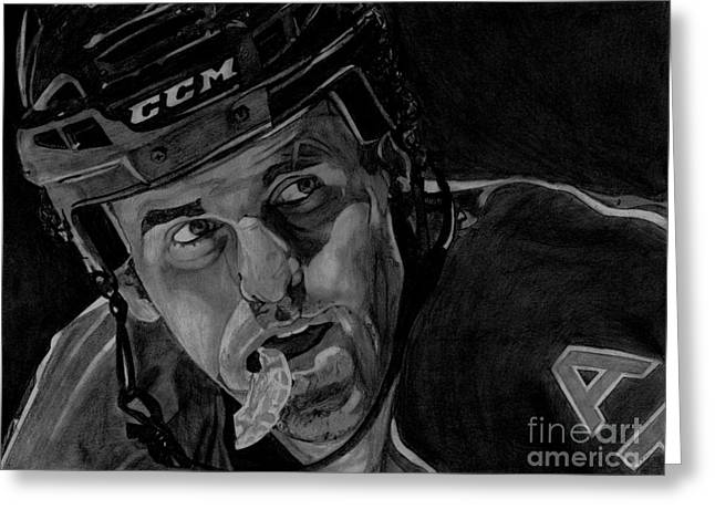 Reebok Greeting Cards - Andrew Ladd Greeting Card by Melissa Goodrich
