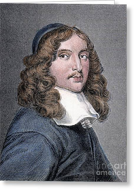 Statesman Greeting Cards - Andrew Marvell (1621-1678) Greeting Card by Granger