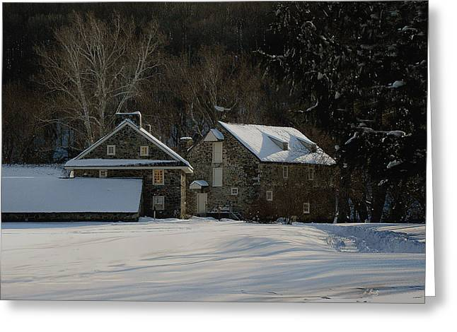 Stone Barn Greeting Cards - Andrew Wyeth Estate in Winter Greeting Card by Gordon Beck