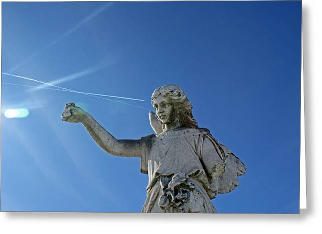 Headstones Greeting Cards - Angel Broken Greeting Card by Off The Beaten Path Photography - Andrew Alexander