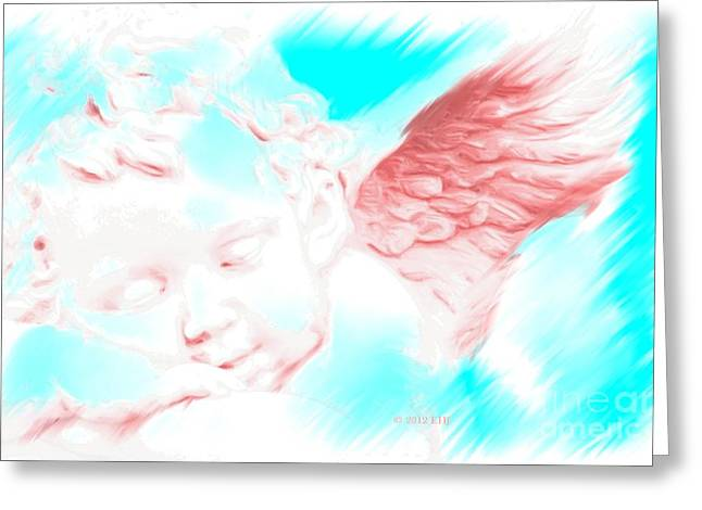 Seraphim Angel Paintings Greeting Cards - Angel Dream Greeting Card by Earl Jackson