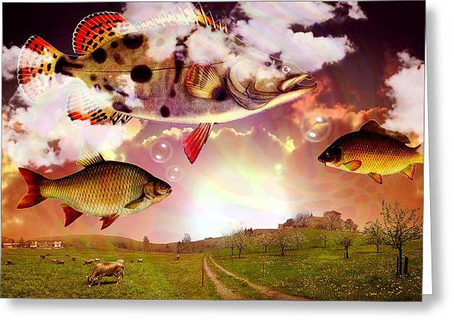 Angel Fish Greeting Card by Mark Ashkenazi