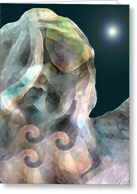 Visionary Artist Greeting Cards - Angel Greeting Card by George  Page