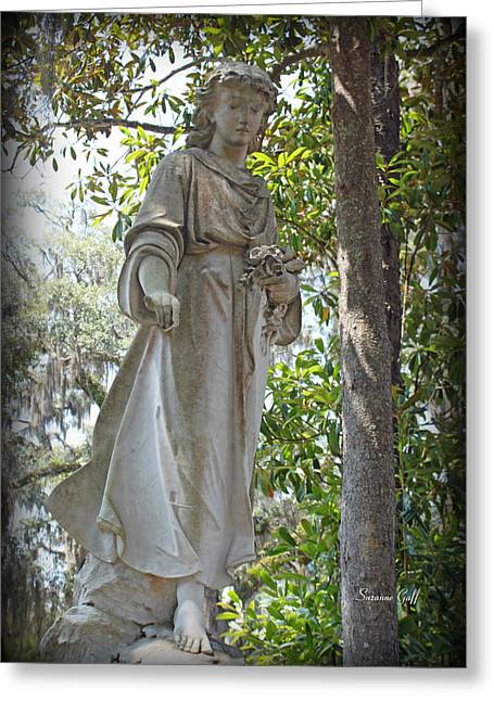 Historic Cemetery Greeting Cards - Angel III Greeting Card by Suzanne Gaff
