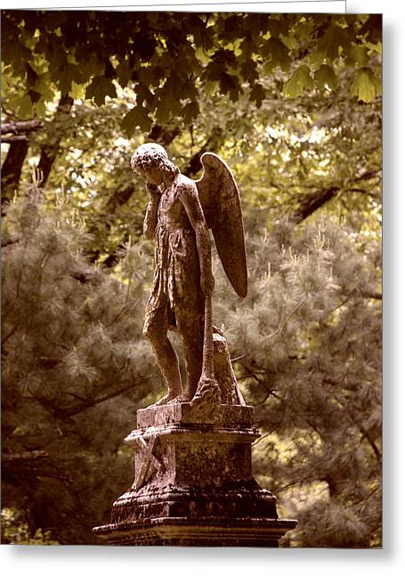 Landscapes Greeting Cards - Angel In Tears Greeting Card by Kelly Rader