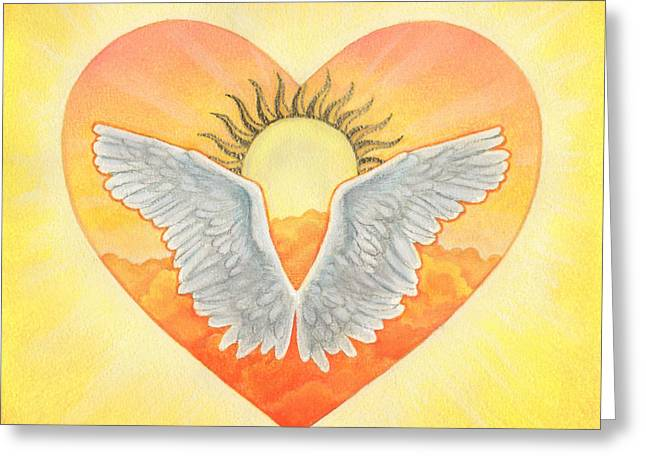 Hope Pastels Greeting Cards - Angel Greeting Card by Lisa Kretchman
