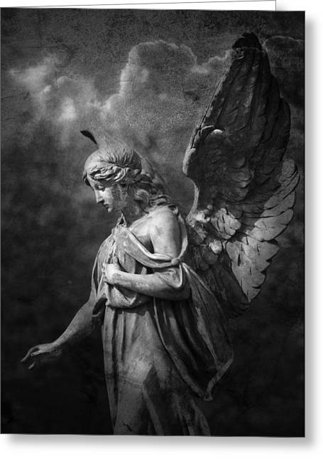 Night Angel Greeting Cards - Angel Greeting Card by Marc Huebner