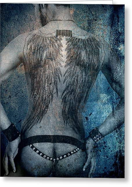 Bombelkie Greeting Cards - Angel Nude  Greeting Card by Mark Ashkenazi