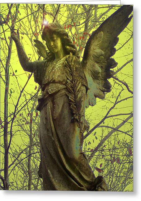 Best Sellers -  - Seraphim Angel Greeting Cards - Angel of Bless No. 01 Greeting Card by Ramon Labusch