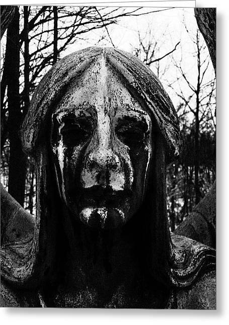 Weeping Greeting Cards - Angel of Death Greeting Card by Ian MacQueen
