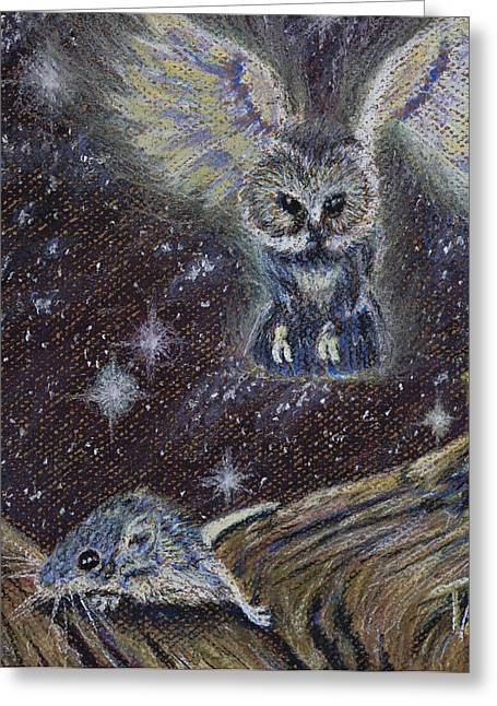 Mouse Pastels Greeting Cards - Angel of Death Greeting Card by Thomas Maynard