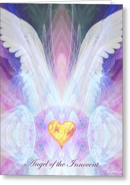 Diana Haronis Greeting Cards - Angel of the Innocent Greeting Card by Diana Haronis