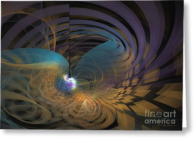 Algorithmic Abstract Greeting Cards - Angel of the subconscious Greeting Card by Sipo Liimatainen