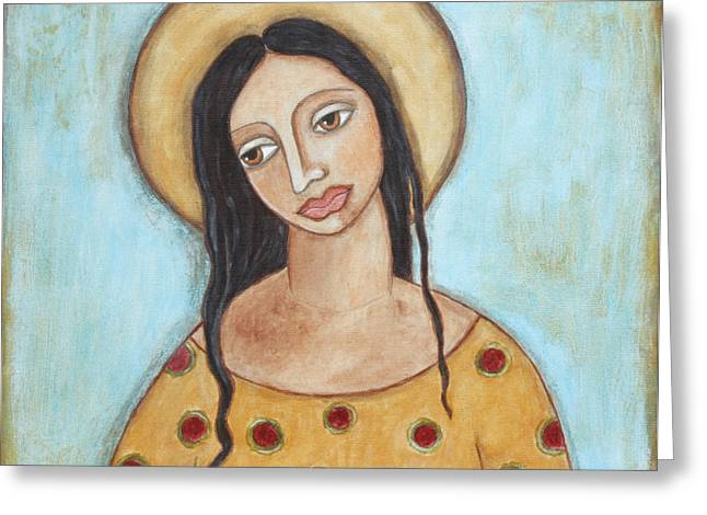 Acrylic Pastels Greeting Cards - Angel of Tolerance Greeting Card by Rain Ririn