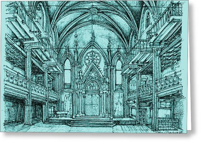 Reform Greeting Cards - Angel Orensanz in blue Greeting Card by Lee-Ann Adendorff