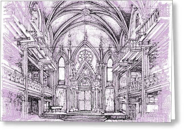 Reception Greeting Cards - Angel Orensanz in lilac  Greeting Card by Building  Art