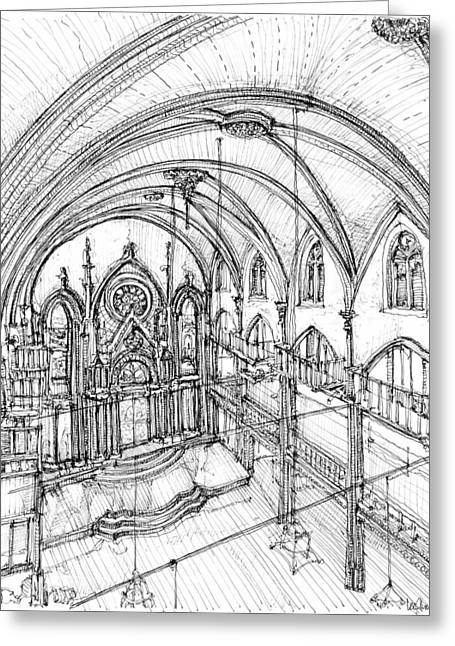 Angel Drawings Greeting Cards - Angel Orensanz sketch 3 Greeting Card by Building  Art