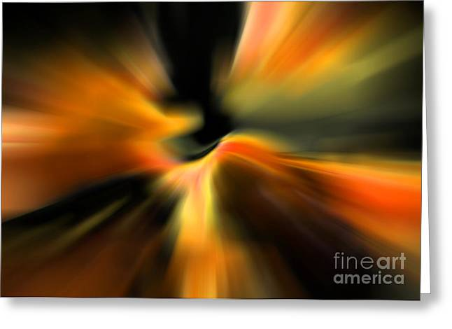 Carol Groenen Abstracts Greeting Cards - Angel Song Greeting Card by Carol Groenen