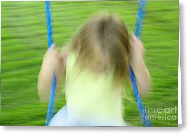 Impressionist Photography Greeting Cards - Angel Swing Greeting Card by Aimelle