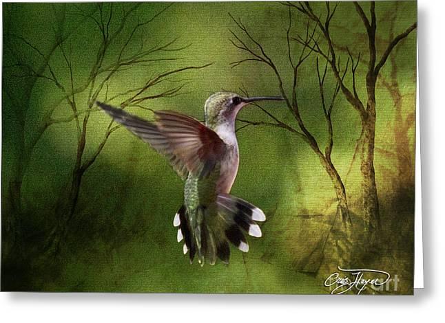 Angel Wings Greeting Card by Cris Hayes