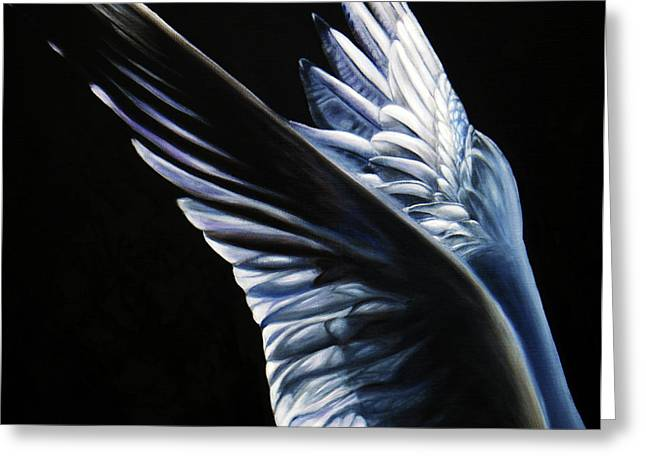 Commission Work Greeting Cards - Angel Wings Greeting Card by Sun Sohovich