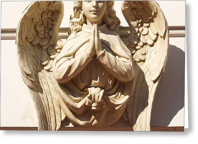 Praying Hands Greeting Cards - Angel2 Greeting Card by J erik Leiff