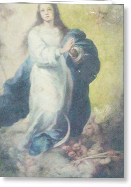 Underwater Photos Paintings Greeting Cards - Angelic Mary  Greeting Card by Unique Consignment