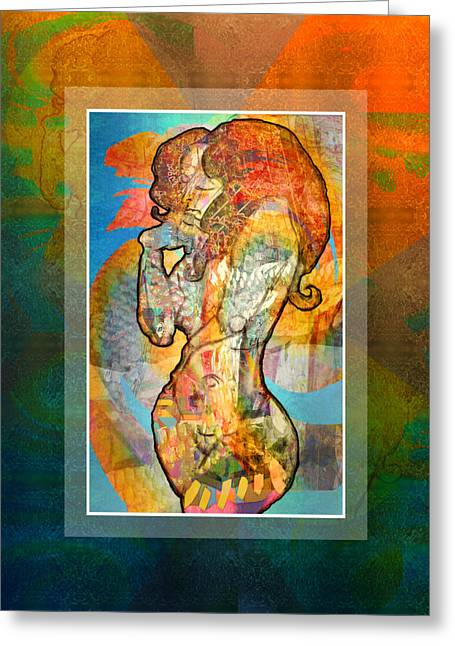 Ogling Greeting Cards - Angelic Nude Greeting Card by Mary Ogle