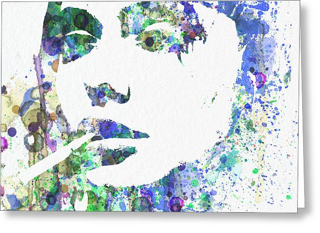 Girl Digital Art Greeting Cards - Angelina Jolie Greeting Card by Naxart Studio