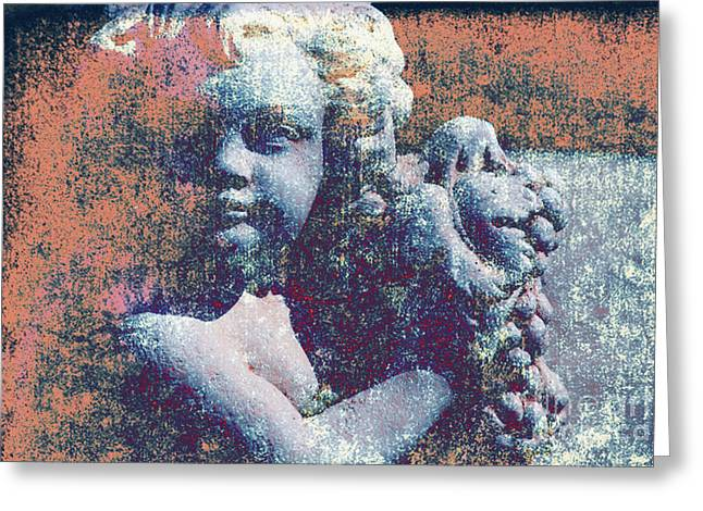 Statue Portrait Photographs Greeting Cards - Angelina Greeting Card by Susanne Van Hulst