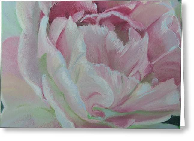 Close Up Floral Pastels Greeting Cards - Angelique Greeting Card by Marie-Claire Dole