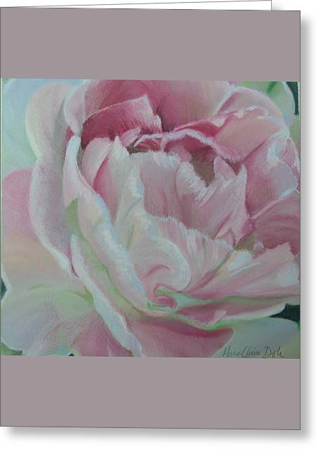 Close Up Pastels Greeting Cards - Angelique Greeting Card by Marie-Claire Dole
