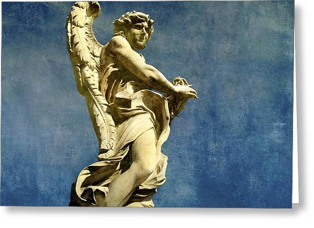 Angel Blues Greeting Cards - Angelo Greeting Card by Bernard Jaubert