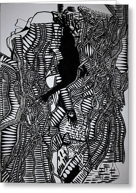 Angels Kiss Greeting Card by Gloria Ssali