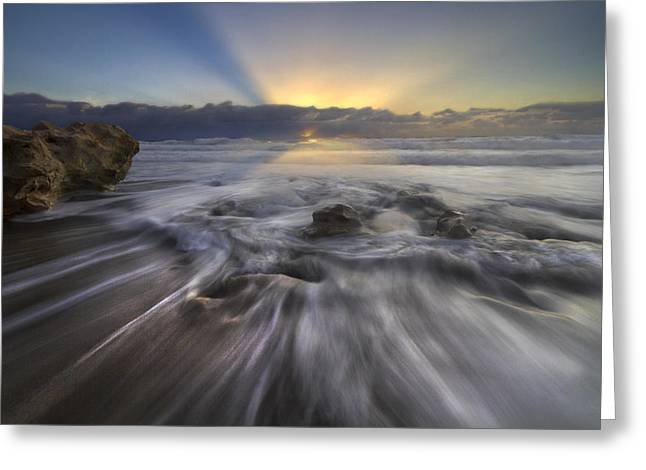 Hobe Sound Greeting Cards - Angels Walk Greeting Card by Debra and Dave Vanderlaan