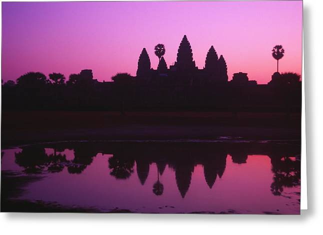 Lovely Pond Greeting Cards - Angkor Wat Greeting Card by Allan Seiden - Printscapes