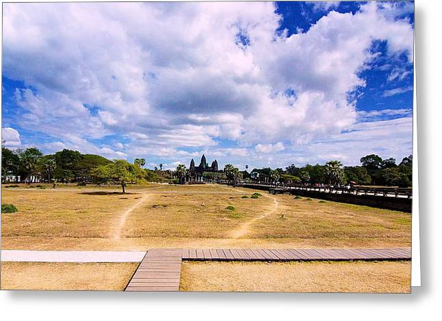 Angkor Wat Greeting Card by Arik S Mintorogo