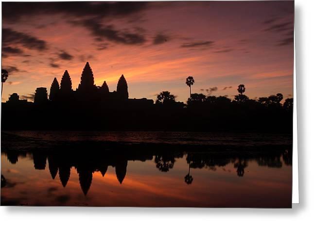 Cambodia Greeting Cards - Angkor Wat at Sunrise Greeting Card by Nabil Kannan