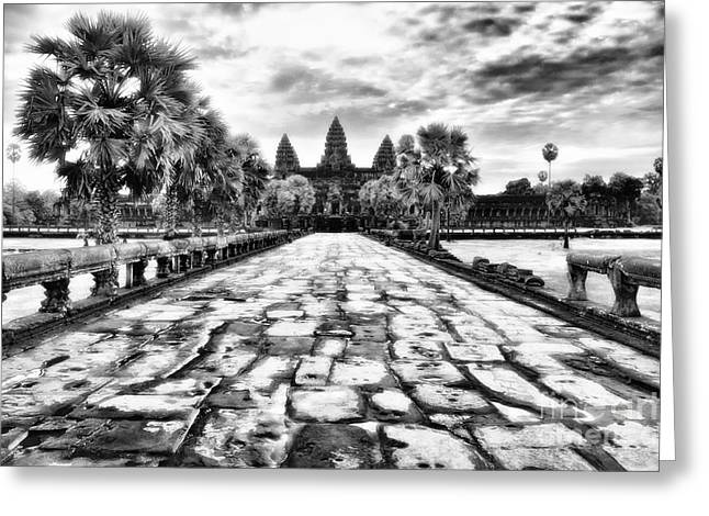 Wat Angkor Greeting Cards - Angkor Wat Greeting Card by Kate McKenna