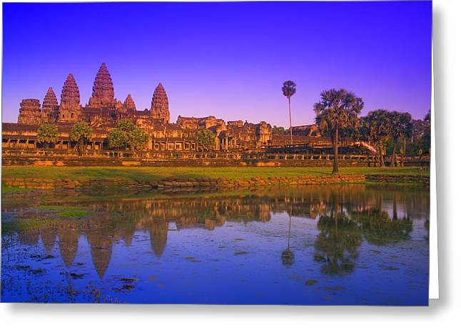 Historic Site Greeting Cards - Angkor Wat Temple, Cambodia Greeting Card by Carson Ganci