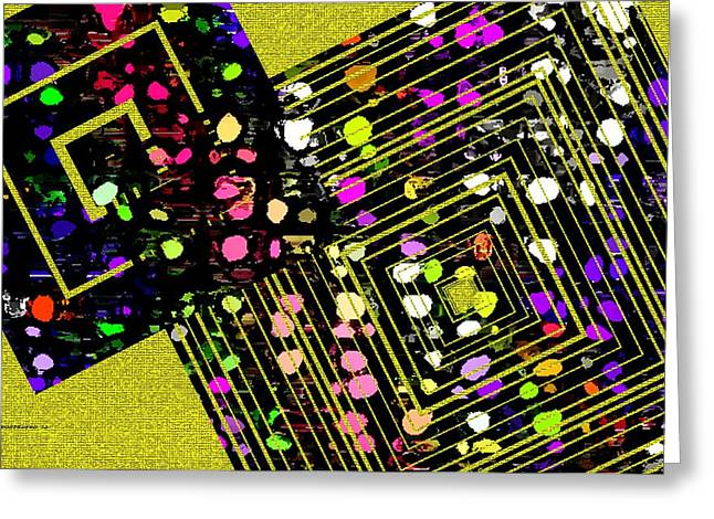Angle lines and squares Greeting Card by Mario  Perez