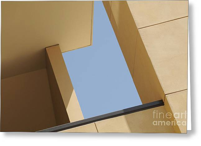Beige Abstract Greeting Cards - Angles Greeting Card by Dan Holm