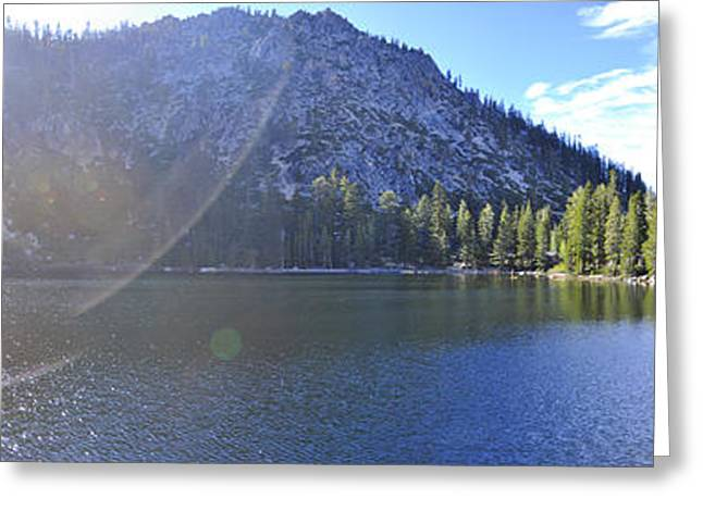 Angora Lakes Greeting Cards - Angora Flare Greeting Card by Geoffrey Hill
